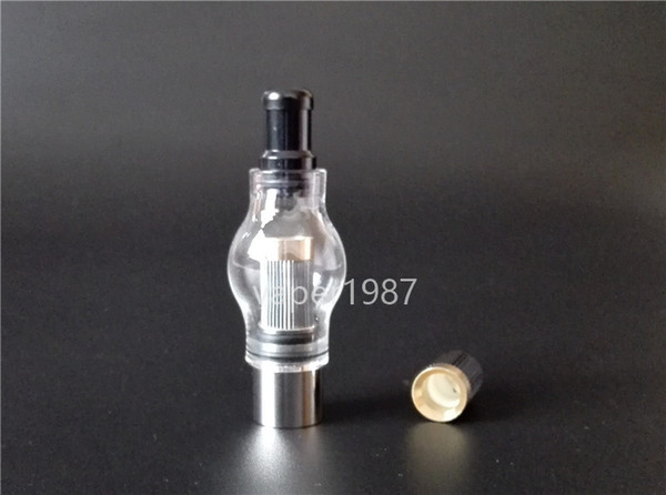Glass Globe Bulb Dome Wax Vaporizer Atomizer with Super Performance Metal Replacement coil head Dual Heating Coil Ceramic/quartz rods