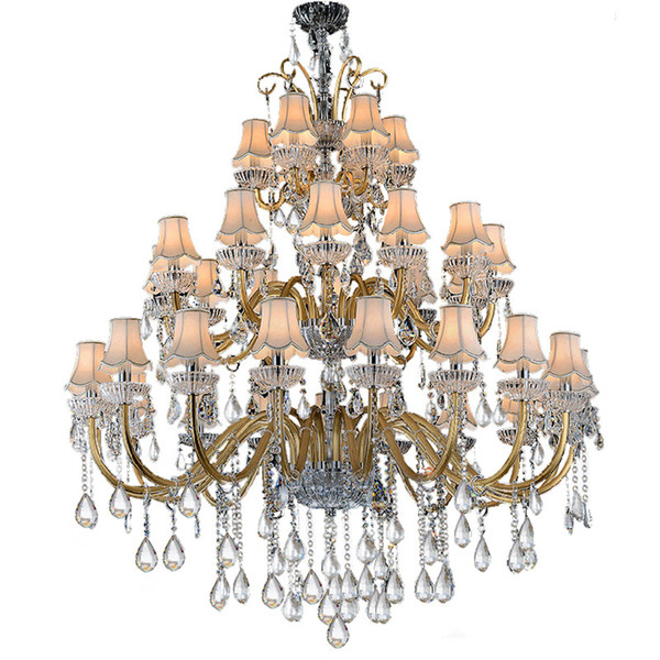 Large Crystal Chandeliers Three Layer Chandeliers Large Contemporary Chandelier Hotel Traditional Living Room Crystal Chandelier With Shade Rustic
