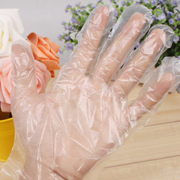 Großhandel 100 Stücke Einweghandschuhe Poly Food Service Handschuhe Ideal Für Die Reinigung Kunst Transparentes Kleid Dünne Handschuhe Schönheit