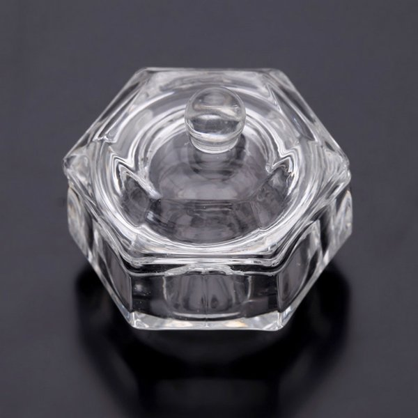 Vente en gros de verre cristal Dappen New Nail Art outils acrylique Dappen plat bol tasse coupe liquide verrerie outil Nail Art équipement outils