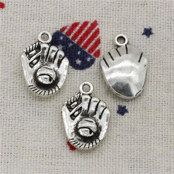 Wholesale- 108pcs Charms baseball glove 20*14mm Pendant,Vintage Tibetan/Gold Silver,For DIY Necklace & Bracelets Jewelry Accessories