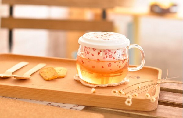 Home Transparent Go Starbucks Blossoms Filter To Tea Liner Office Personalized Mug Ceramic Style Cup Coffee Japanese Cherry Glass Unit Heat hxdBsQrtC