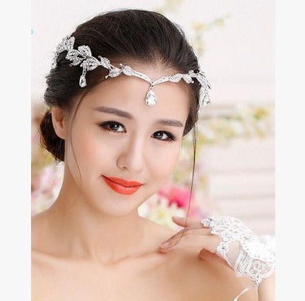 2020 Ucuz Gümüş Altın Düğün Aksesuarları Gelin Tiaras Kristal Rhinestone Saç Bantları Nedime Kadınlar Saç Takı Taçlar Kafa