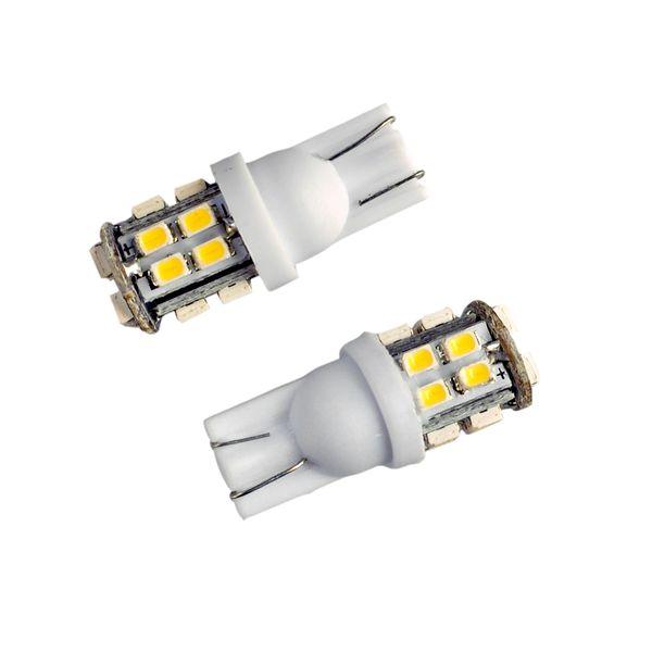 20Pcs T10 LED Car Light Bulb W5W 20 LEDs 1206 SMD DC 12V White 6000K Inverted Side Wedge Lights Universal Auto LED Lamp