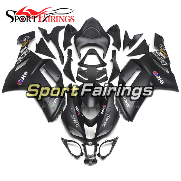 Fairings For Kawasaki ZX6R 636 2005 2006 05 06 Matte Black ABS Injection Plastic Motorcycle Fairing Kit Cowlings Body Frames Carenes