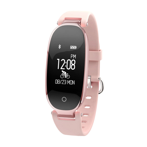 Lady Fashion S3 Smart Bracelet Bluetooth Remote Control Camera and Music Smart Band Heart Rate Tracker Sleep Monitor