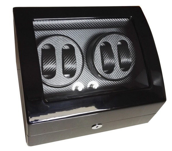 best selling Global Fit Use Luxury Exw Watch Storage&Display Brand Watch Winder Box Black Glossy Wooden Case Rotator 4+6 Mechanical Watches Movement Box