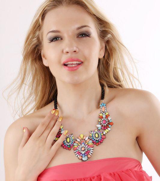 Pearl Choker Collar Vintage 2016 New Ribbon Bead Rhinestone Chain Statement Necklaces Pendants Women Jewelry Gifts