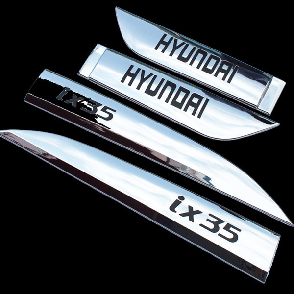 2014 2015 IX35 ABS Chrome Side Door Body Modanatura Trim Cover Protettiva Scuff Strip Accessori Styling Auto Nero / Rosso 4 pezzi