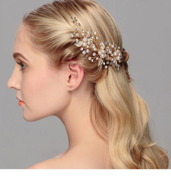 capelli Hoop Fascia per capelli-UK Venditore Bridal Cristallo Rhinestone Argento Corona Diadema