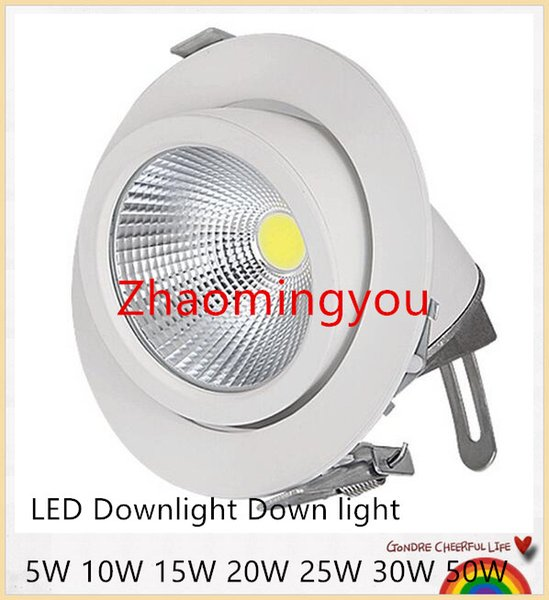 YON Adjustable 5W 10W 15W 20W 25W 30W 50W COB Trunk lamp LED Downlight Down light lamp recessed Super Bright Indoor Light 85~265V CE RoHS