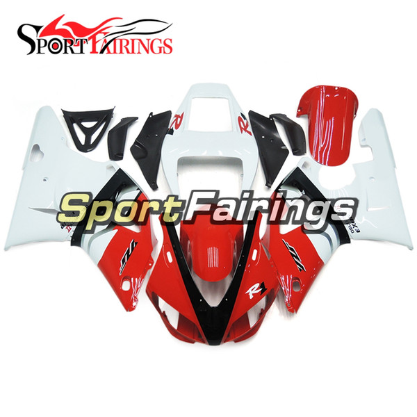Full Fairings For Yamaha YZF 1000 R1 98 99 YZF-R1 1998 1999 ABS Motorcycle Fairing Kit Bodywork White Red Cowlings Motorbike Covers
