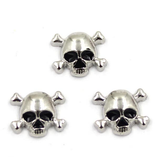 100pcs Skull/Crown/Angel Wings Floating Lockets Charm Fit DIY Floating Locket Pendant Necklace For Jewelry Making