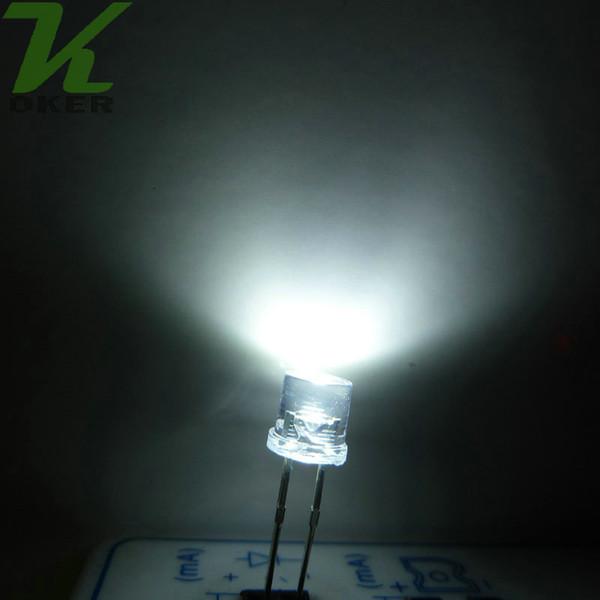1000pcs 5mm White Flat top LED Light Lamp led Diodes 5mm Flat Top Ultra Bright Wide Angle LEDs