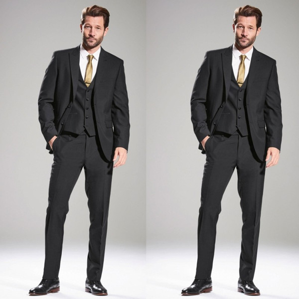 2019 New Wedding Tuxedos Business Suit Fashion Men's Double Breasted Suit Gentleman Formal Wear Three Pieces Cool Wedding Suits