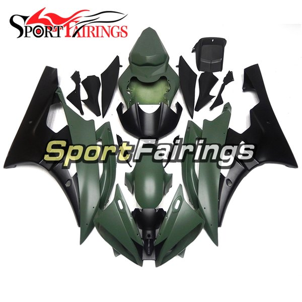 Injection Fairings For Yamaha YZF600 YZF R6 06 07 2006 - 2007 ABS Motorcycle Full Fairing Kit Bodywork Cowling Matte Army Green Black