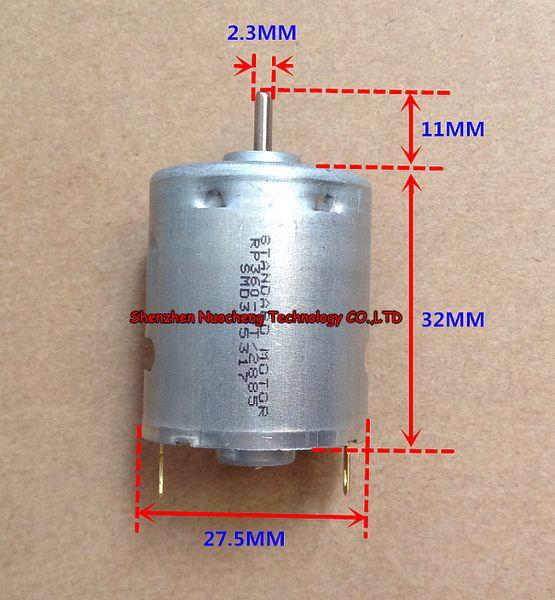 top popular RP360 STANDARD MOTOR 6V 12V high speed 360 micro DC motor 27.5*32mm carbon brush motor 2021