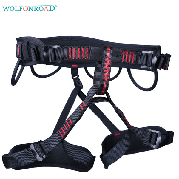 best selling Wolfonroad Tree Climbing Harness Rescue Seat Belt Rock Climbing Harnesses For Rope Ascents Half Body Belts L -Xdqj -160