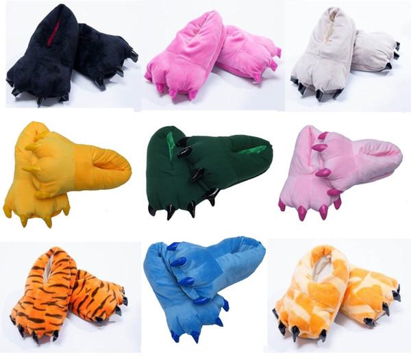 Wholesale-Unisex Cosplay Cartoon Onesie All-inclusive Slippers Animal Pikachu Tigger Giraffe Totoro Penguin Dinosaur Warm Indoor Shoes