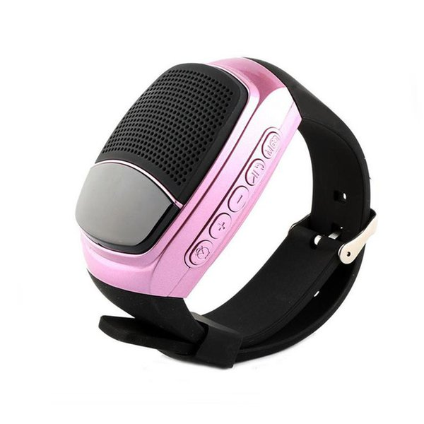 B90 Smart Watch Sports Bluetooth Speaker Handsfree Call TF Card Playing FM Radio Self-timer Wireless Speakers For Iphone 7 Phone