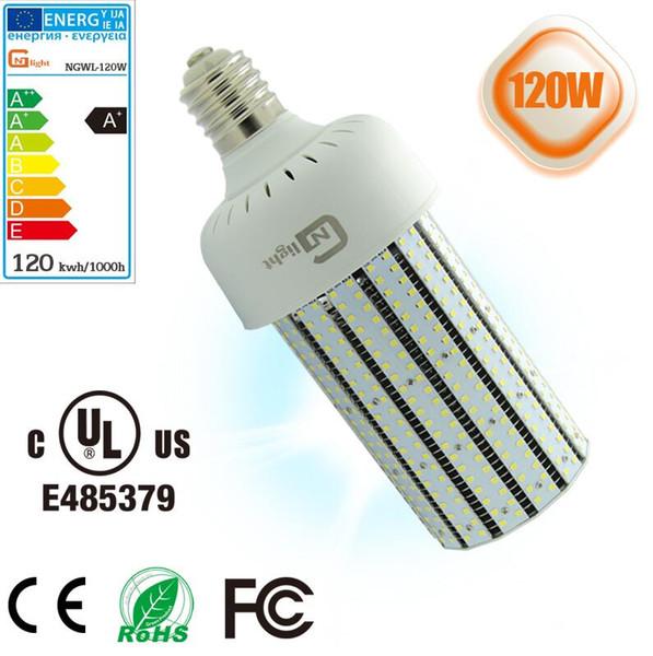 400 watts MHL luz de recambio 120W led bulbo de maíz lámparas iluminación de almacén luz alto brillo larga vida 5 años de garantía