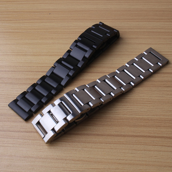 Replacement Watch band strap bracelet fashion unpolished for mechanical watches men 18mm 20mm 21mm 22mm 23mm 24mm watchbands butterfly clasp