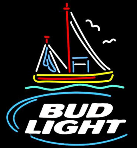 "Bud Light Shrimp Boat Neon Sign Custom Handmade Real Glass Tube Store Beer Bar KTV Club Pub Advertising Display Neon Signs 15""x19"""