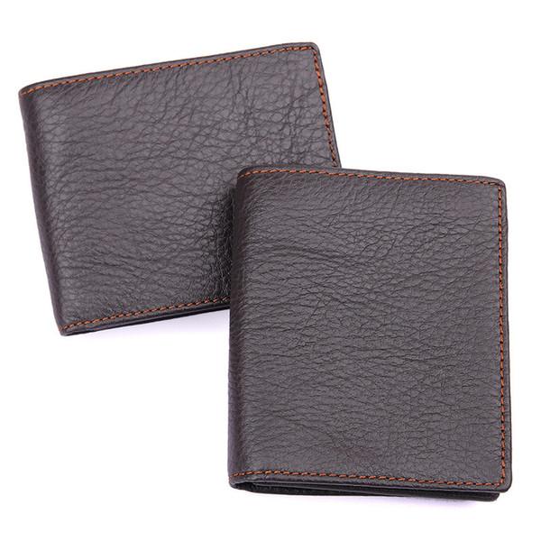 Vintage Retro Mens Leather Wallet Bifold Credit Card Holders Purse
