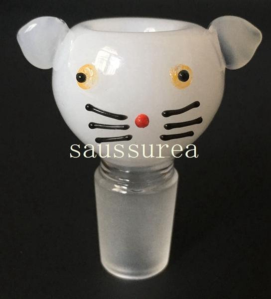 Commercio all'ingrosso più nuovo gattino ciotola ciotole di vetro per bong ciotole 14.5mm 18.8mm per bong tubi di acqua piattaforme petrolifere tubi di acqua di vetro libero