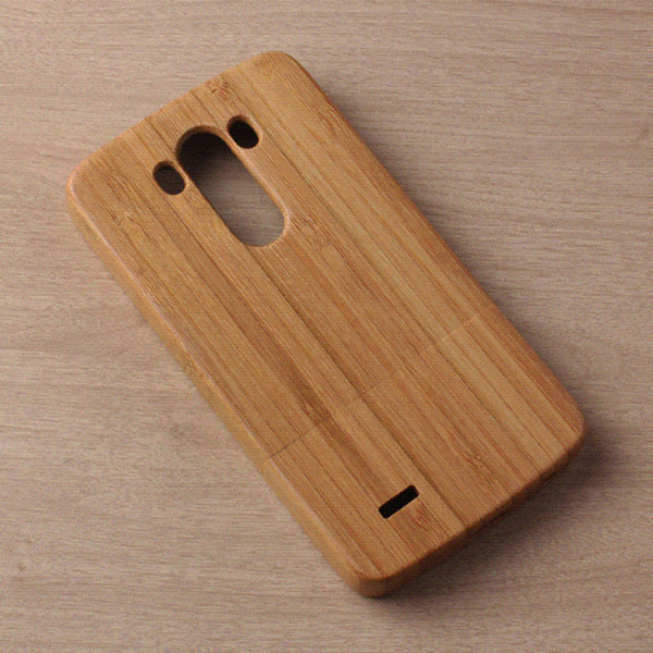 High Quality Nature Wooden Back Sheel Covers Fashion Phone Cases Wood Case Genuine Bamboo Skin Housing For LG G3 D855 Whosale