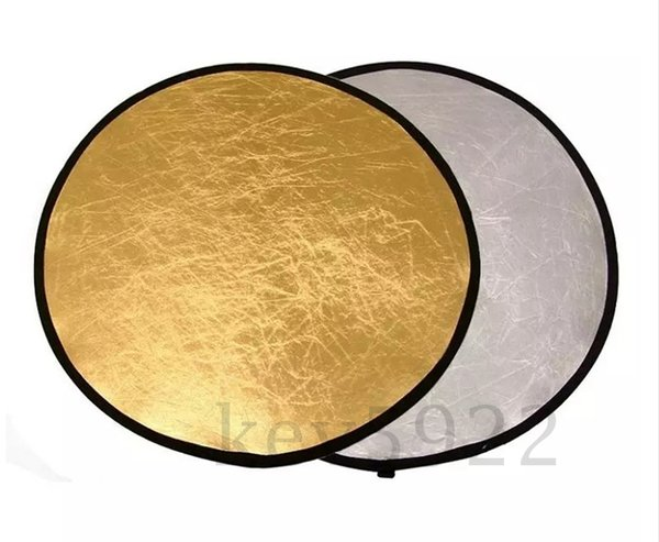 """Photography 24"""" 60cm Gold Silver 2 in 1 Collapsible disc Reflector with carrying bag"""