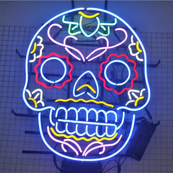 24*20 inches Skull-shaped DIY Light LED Neon Sign Flex Rope Light LED Indoor/Outdoor Decoration RGB Voltage 110V-240V