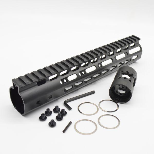 1//Set 9/' Ultralight KeyMod Free Float Handguard NSR Rail Mount Aluminum Free Nut