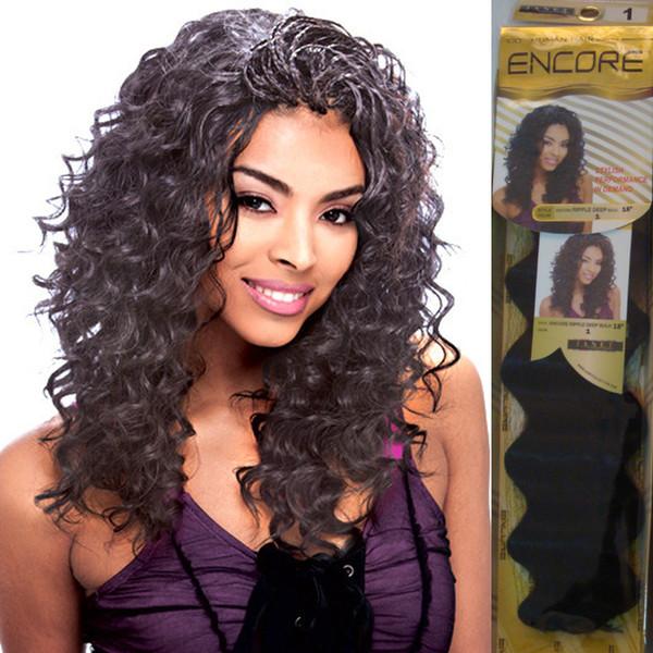 "Janet Collection ENCORE PROMIX 20""Ripple Deep Bulk Hair 4 Colors Human Hair Blend Futura Heat Resistant Fiber"