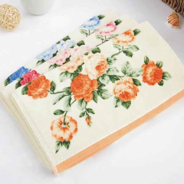35 * 75cm Luxus Printed Blume Baumwolle Terry Handtücher, Gemusterte Blumen  Gesicht Badezimmer Handtücher Für