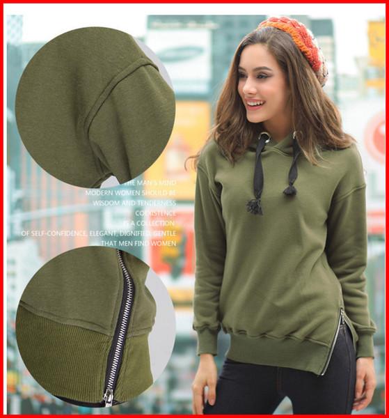 Woman Sweaterer Hoodies Winter Autumn Loose Hooded Jacket Plus Size Thick Velvet Long sleeve Sweatshirt Hoodies ouc008