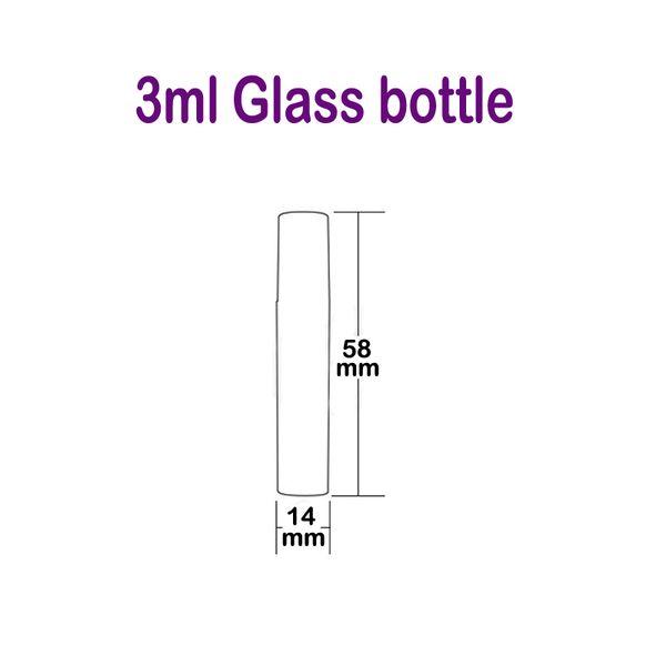 botella de vidrio de 3 ml