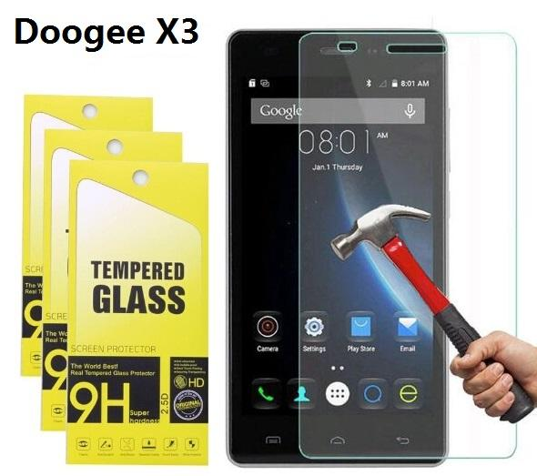 9H Tempered Glass For Doogee X10 Screen Protector For Doogee X5 Max Pro X6 Pro X3 Homtom HT3 HT6 HT17 With Retail Package