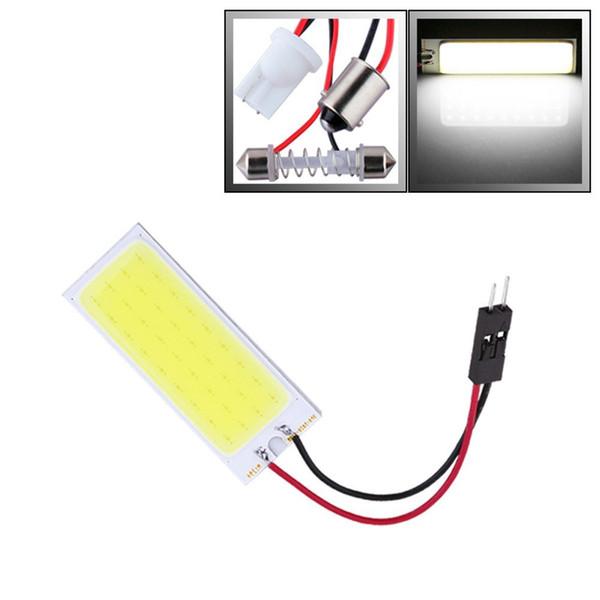 Comercio al por mayor de 3W COB 36 Chip LED Coche Interior Luz T10 Adorno Domo Adaptador 12v, Vehículo Coche Panel LED