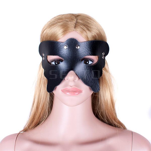 1pcs Fantasy jeu de rôle Black Spider Queen esclave passion masque pour les yeux bdsm