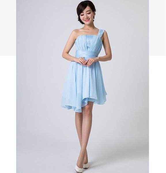 Compre Todos Los Diseños Vestidos De Dama De Honor De Gasa Con Cordones Vestido Champagne Rosado Vestido De Fiesta De Bodas Corto Promoción Sweet