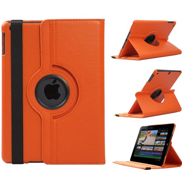 360 Rotating Flip Magnetic Smart Seep Wake up Cover PU Leather Stand Case for New iPad 2017 9.7 Pro 10.5 Air 2 3 4 5 6 Air2 Mini
