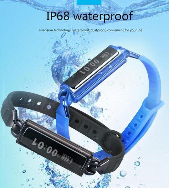 Mais novo db02 pulseiras à prova d 'água pulseira relógio inteligente com monitor de freqüência cardíaca dormindo moniter pedômetro para android ios com caixa de varejo