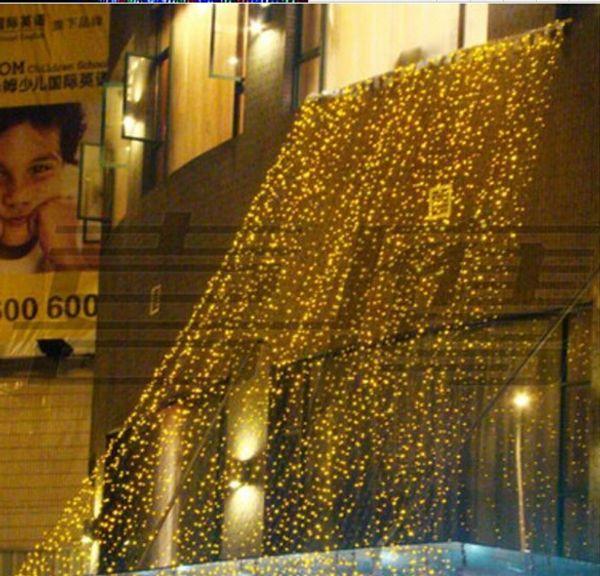 4mx4m LED Christmas Lights String 512 LED Waterfall Curtain Light Party Fairy Wedding Yard Xmas Hotel Holiday Decoration Lamp