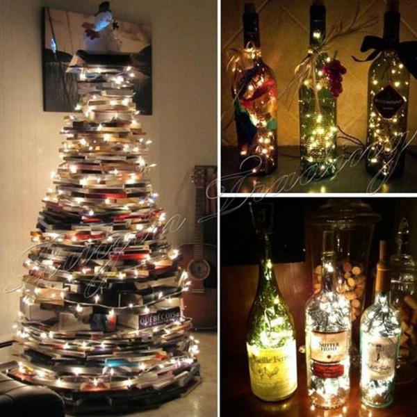 Großhandelsweihnachtsbaumlichtfeiertagshochzeit Dekoration 2/3/5 / 10M wasserdichte batteriebetriebene LED-Schnur-Lichter im Freien