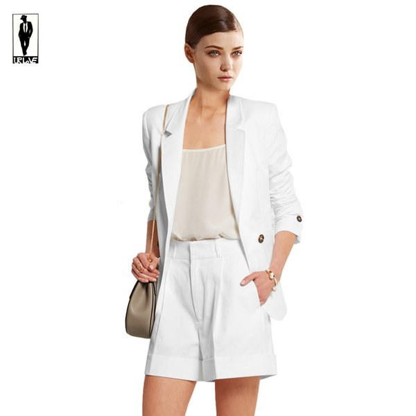 2019 UR 32 White Shorts Custom Made Work Bussiness Formal Elegant Women  Suit Set Blazers Pants Office Suits Ladies Pants Suits Trouser Suits From