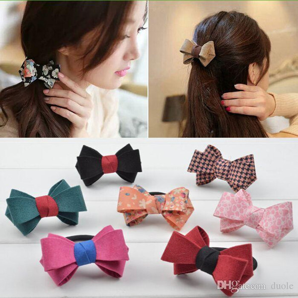 Mulheres bowknot 29 cores duplo estéreo gravata borboleta faixas de Cabelo para a menina headwear Presente de Natal Livre FedEx TNT