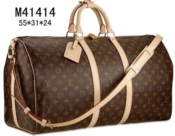 Ücretsiz kargo !!! (Seçin için 13 tarzı) marka tasarımcı büyük kapasiteli seyahat çantası spor çantaları sporAçık Paketleri Kahverengi mektup
