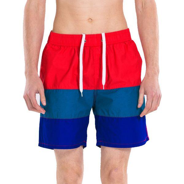 Venta al por mayor-100% Algodón Pantalones cortos de natación Hombres Marca Pantalones cortos de tabla de surf Secado rápido Sólido transpirable Hombres Traje de baño Corto De Bain Homme WY-BNB050