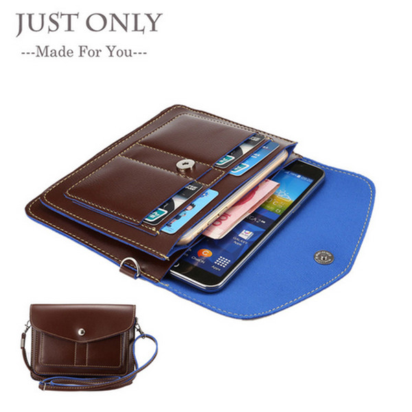 New Universal Leather Bag Small Shoulder Crossbody Pouch for iPhone/Samsung/Sony/Homtom/Lumia Molle Phone Case Bag Below 6.3'' XCZ01